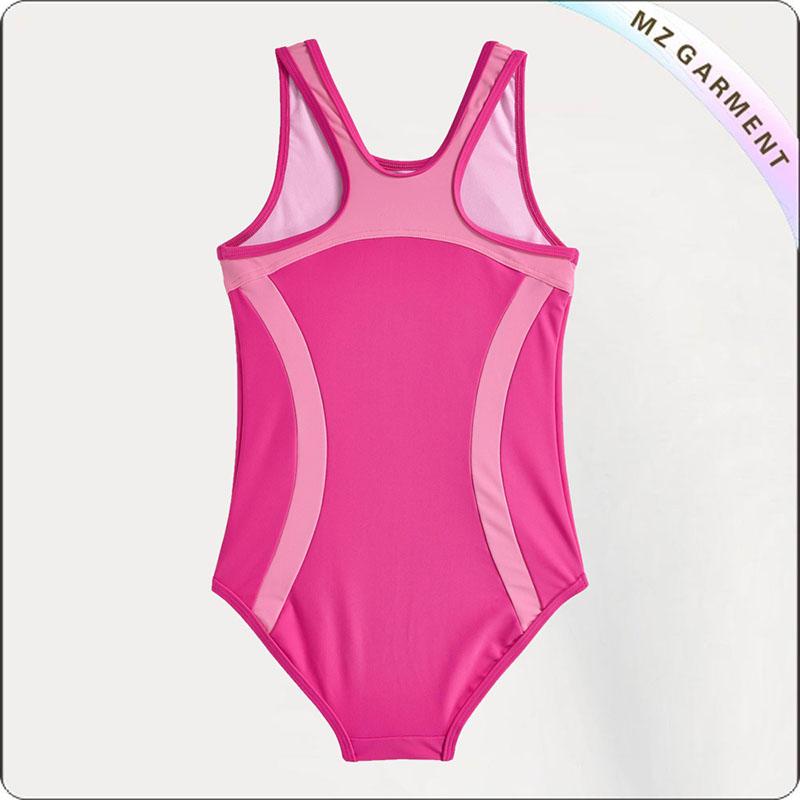Girls' Pink Swimsuit