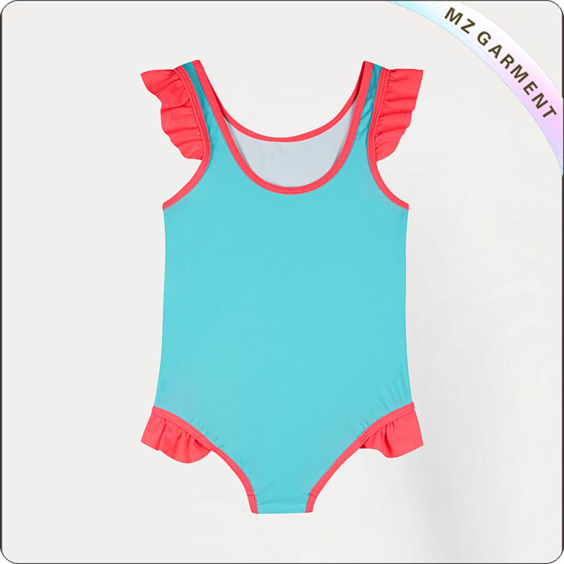 Girls' Printed Fish Swimsuit