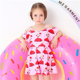 Little Girls Beachwear, Custom Design, Nylon and Spandex Materials