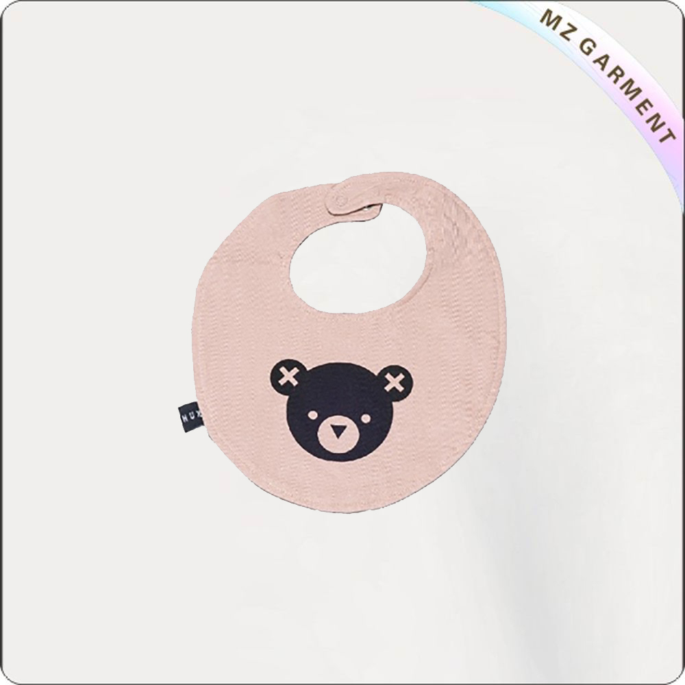 Children Bear Pink Bib