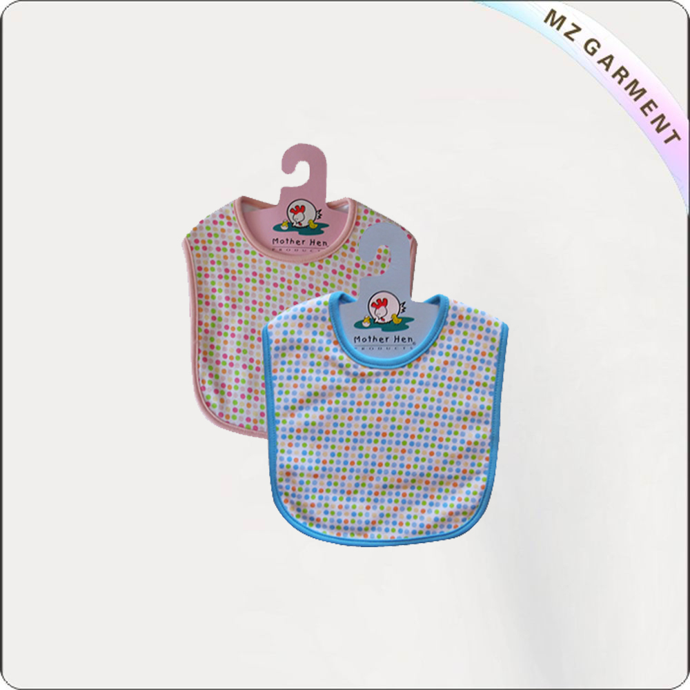 Children Dots Pink-Blue Bibs