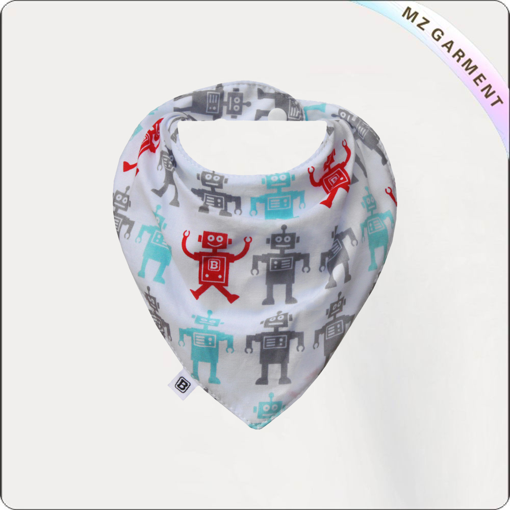 Children Robot Printed Bib
