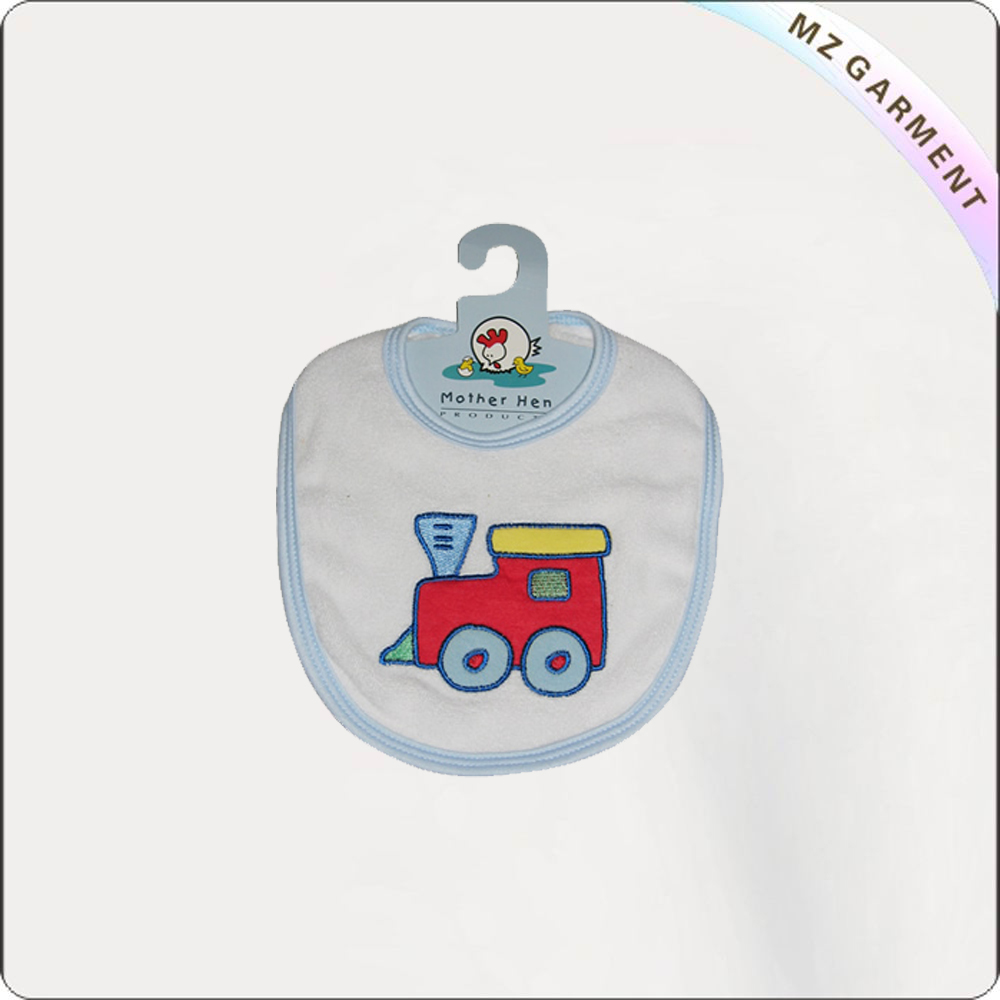 Children Train Print Bib