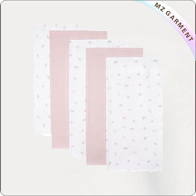 Solid Pink + White AOP Blanket