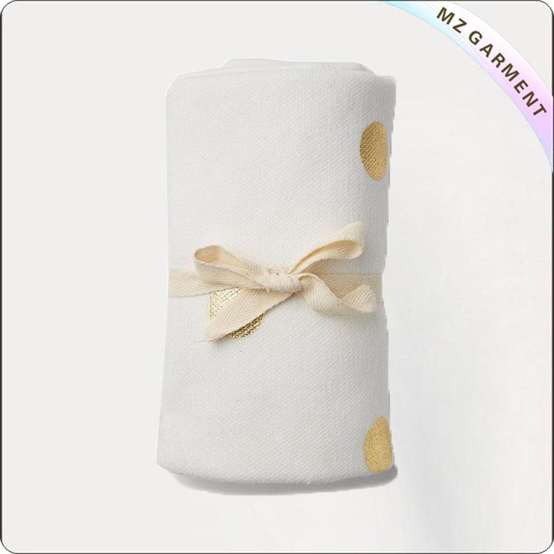 Yellow Dot Embroidery Blanket