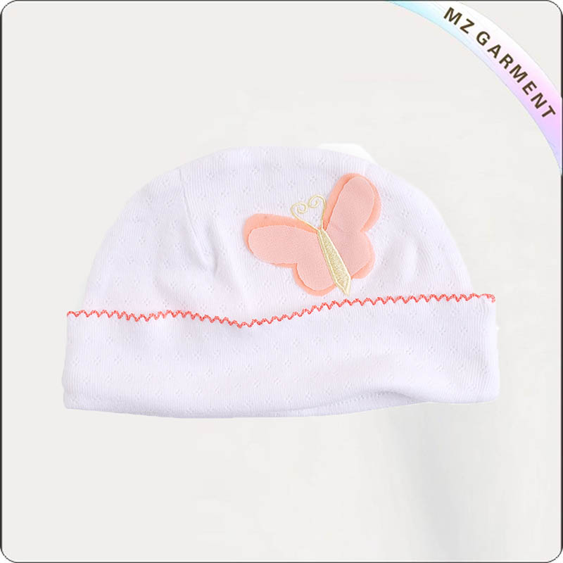 Kids Butterfly Embroidery Cap