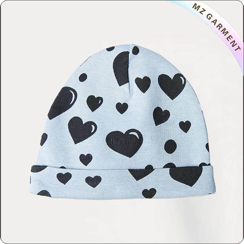 Kids Hearts Blue Cap