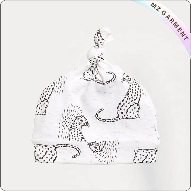 Kids Little Leopard Knot Cap