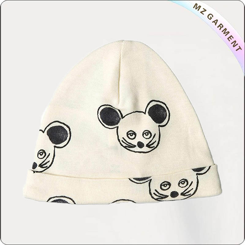Kids Mouse White Cap