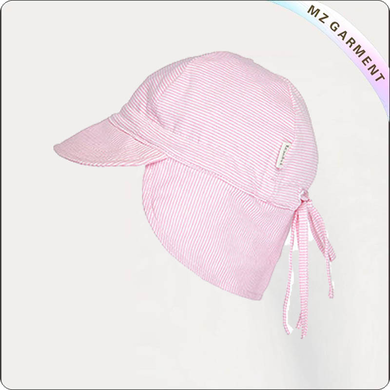 Kids Solid Pink Flap Cap