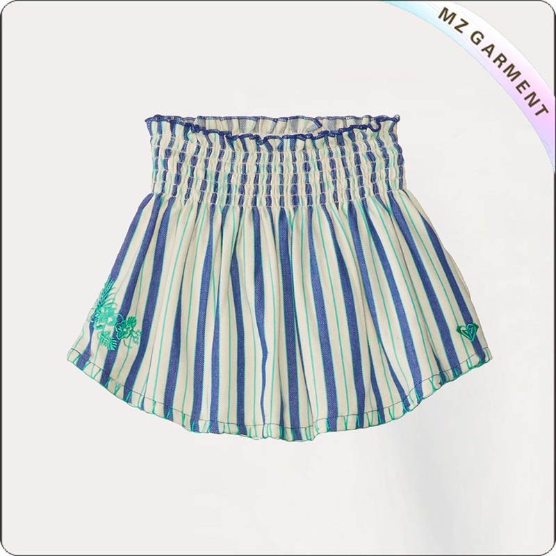 Kids Blue Stripe Skirt