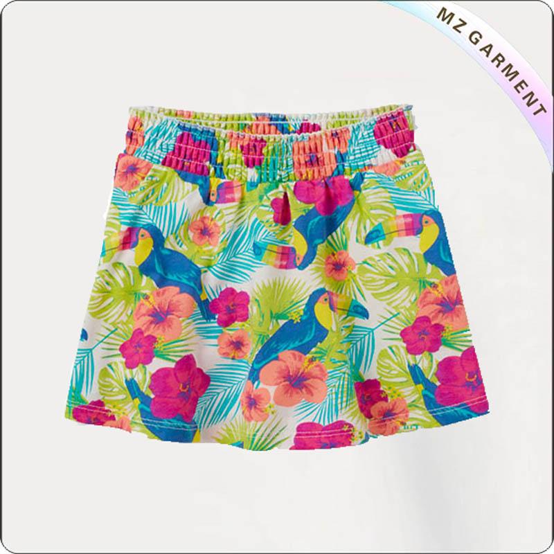Kids Floral Print Skirt