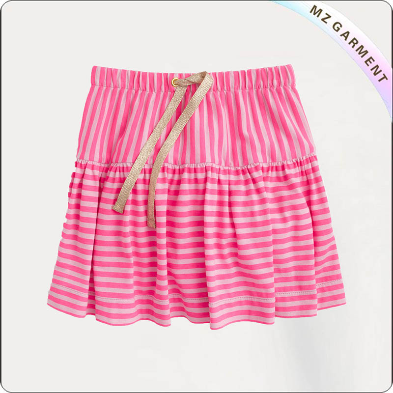 Kids Pink Stripe Skirt