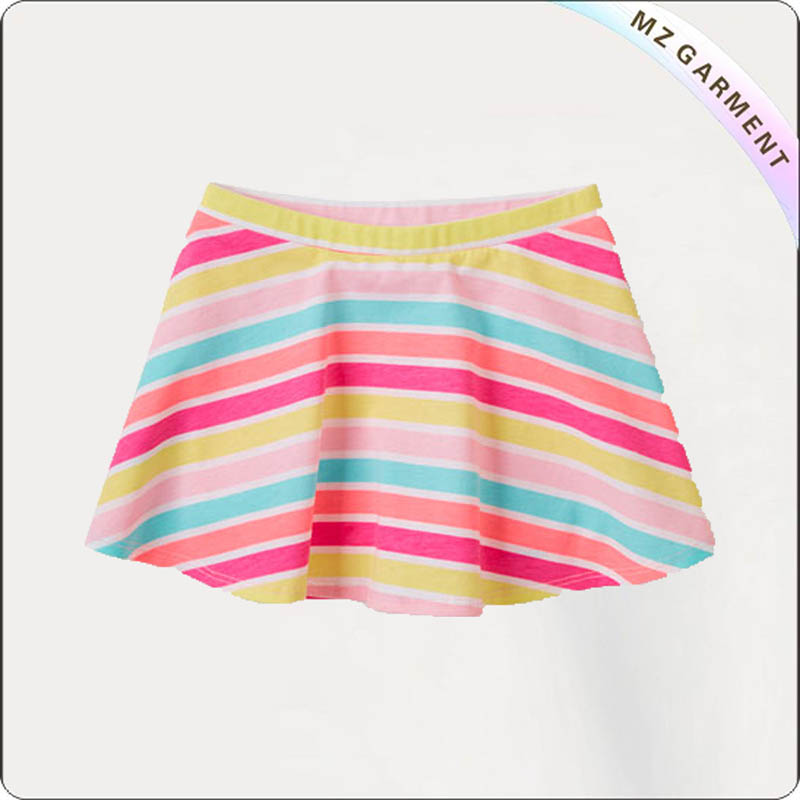 Kids Rainbow Stripe Skirt