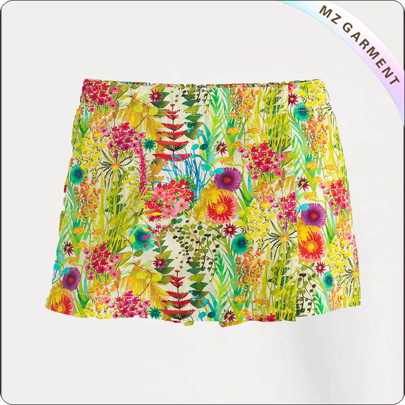 Kids Summer Print Skirt