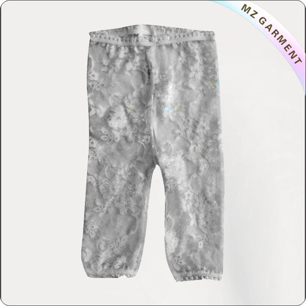 Baby Girl Grey Lace Legging