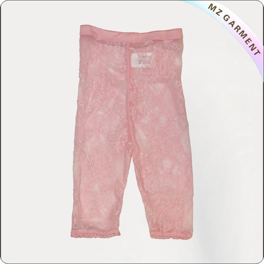 Pink Lace Legging