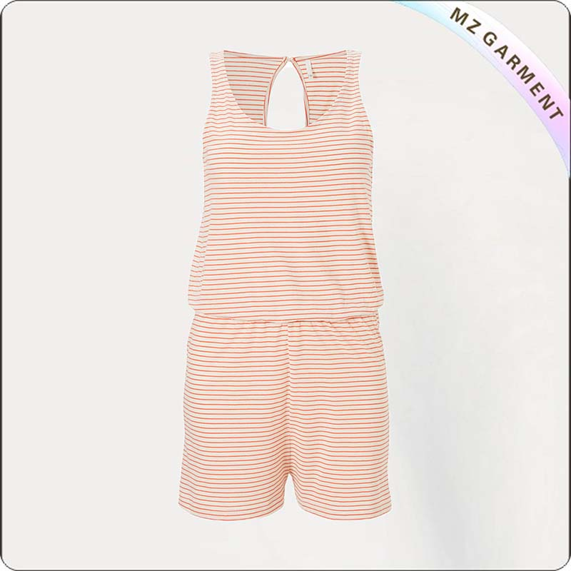 Girls Mini Orange Snapsuit