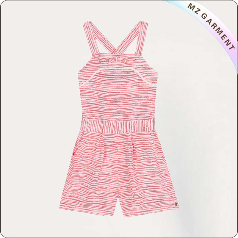 Girls Striped Playsuit