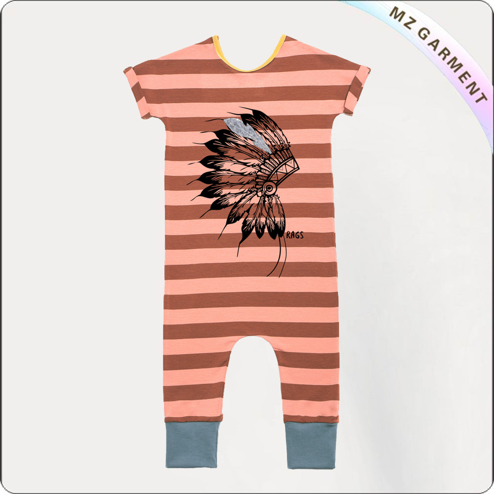 Indian King Orange Romper