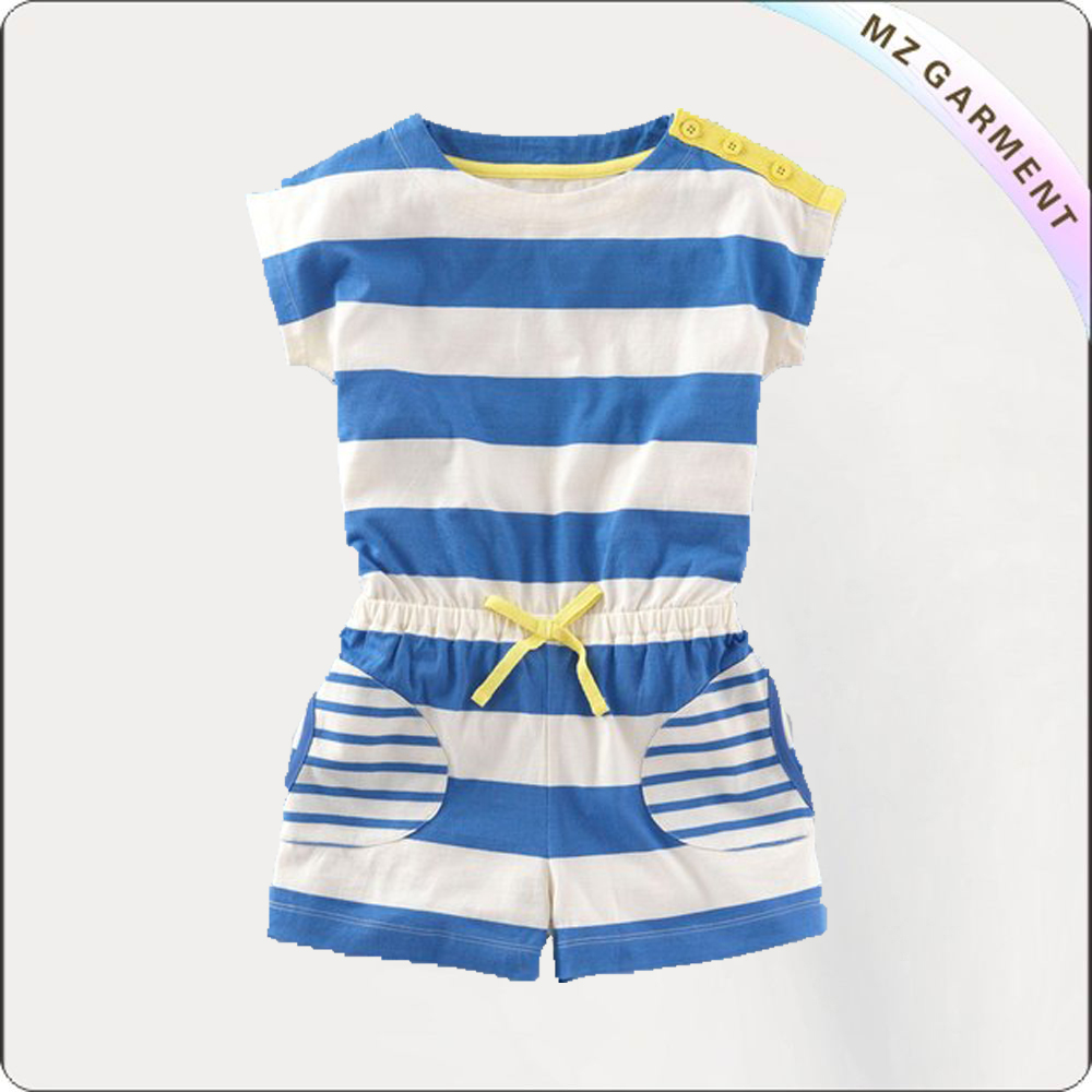 Kids Blue stripe romper