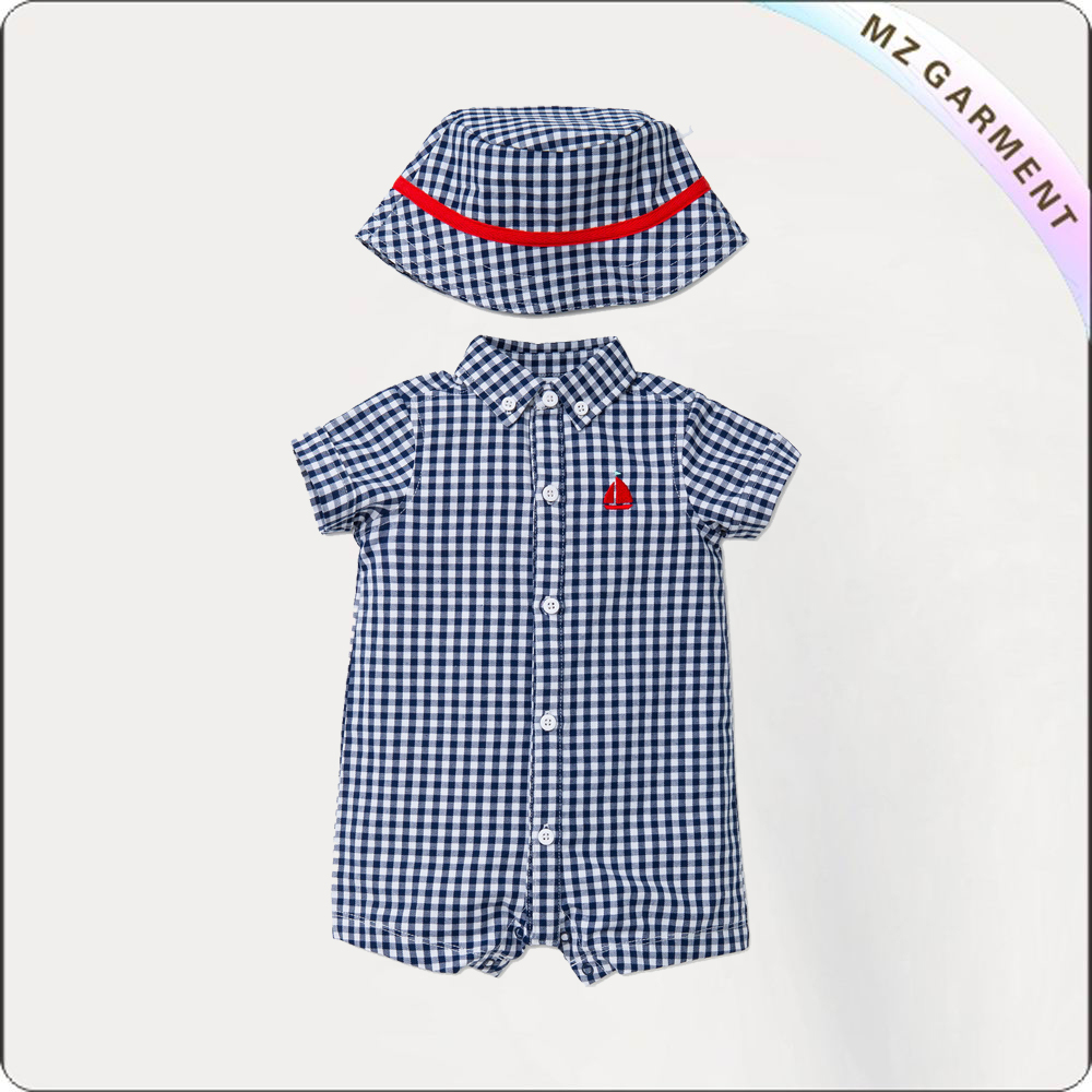 Little Boy Lattice Romper