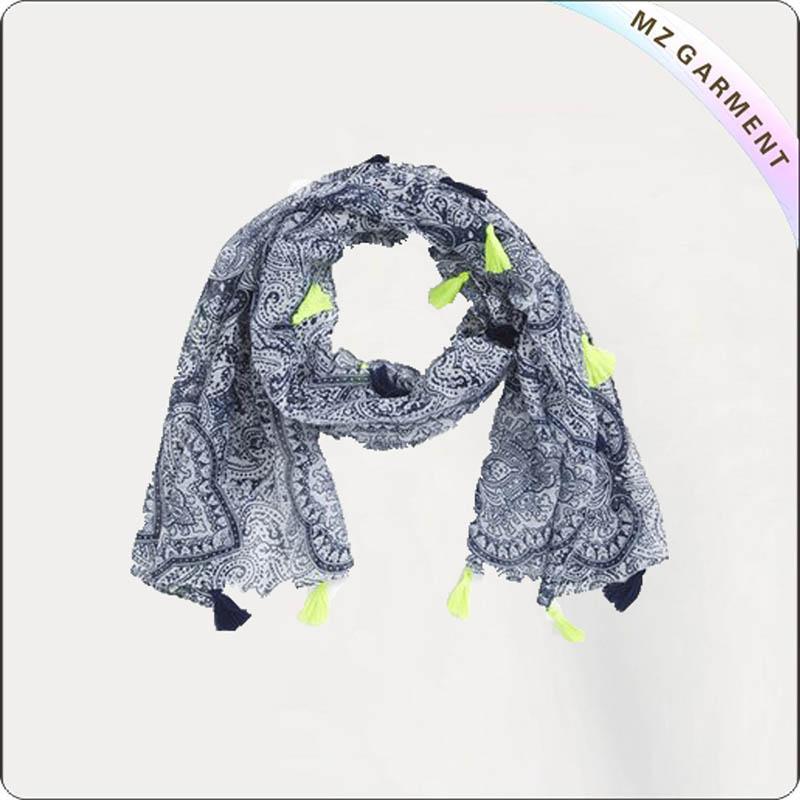 China Cotton Navy Stripe Scarf Oem Manufacturer Mz Garment
