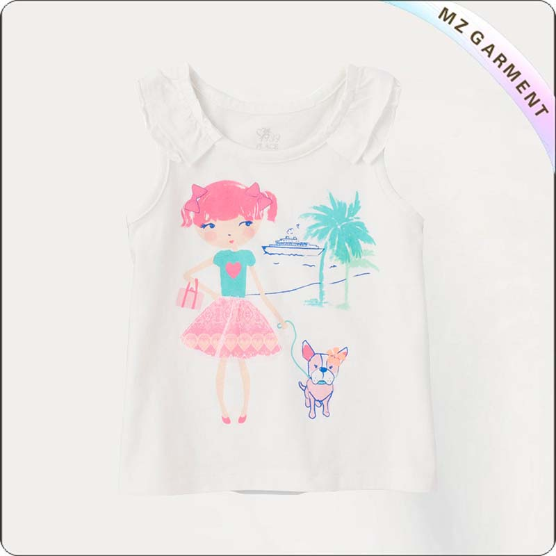 Kids Gril & Dot Singlet