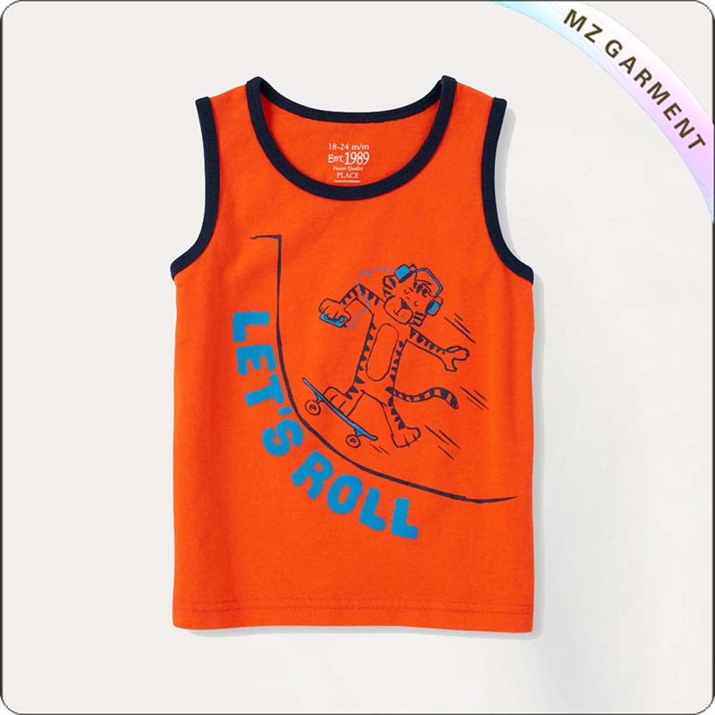 Kids Let's Roll Singlet