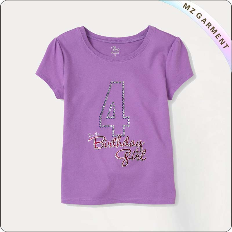 Girl Birthday Purple T-Shirt