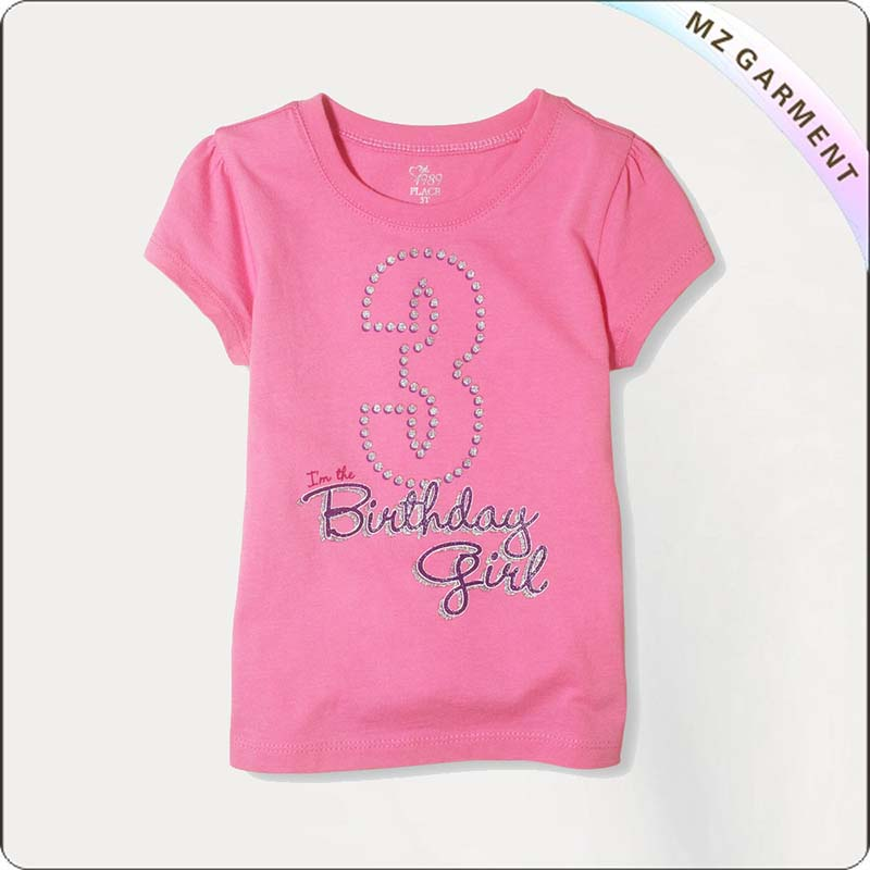 Girls Birthday Pink T-Shirt