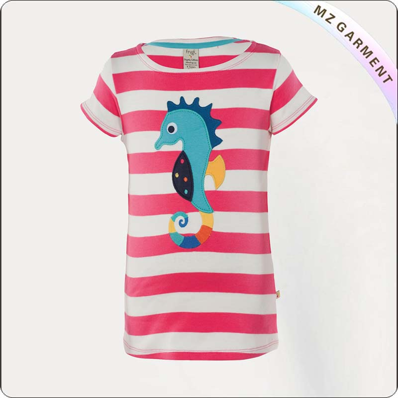 Girls Hippocampus Tee Shirt