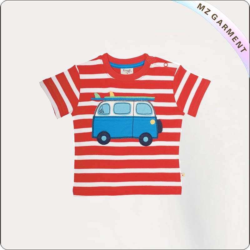 Kids Bus Printed T-Shirt