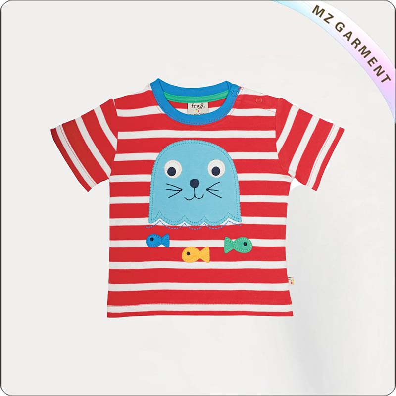 Kids Dolphin Striped Tee Shirt