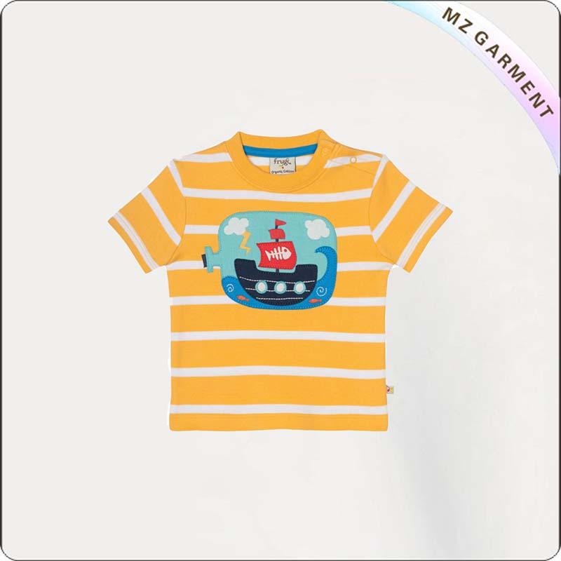 Kids Little Fal Applique Tee Shirt