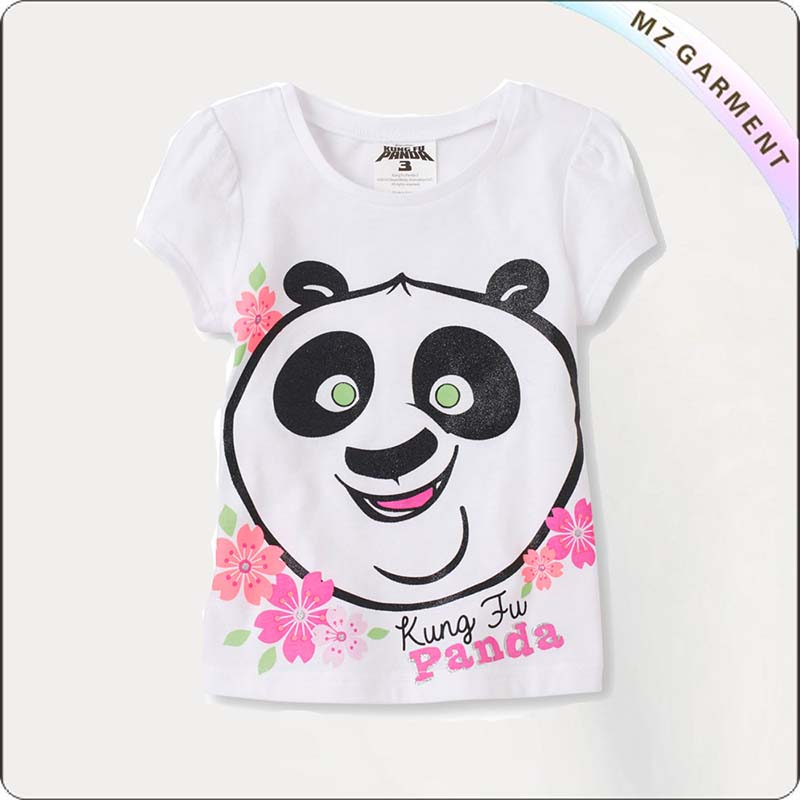 Kids Panda Printed Tee Shirt