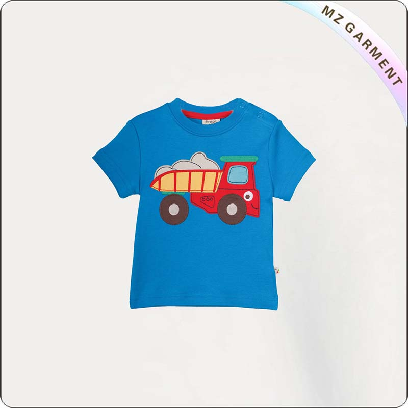 Kids Truck Printed Tee Shirt