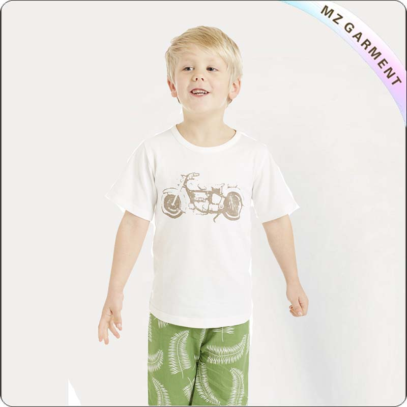 Kids White Tee Shirt