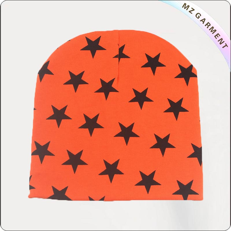 Navy Star Orange Cap
