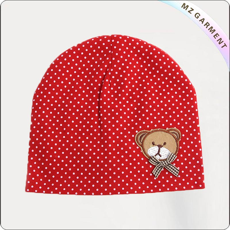 Red Cap with Dot