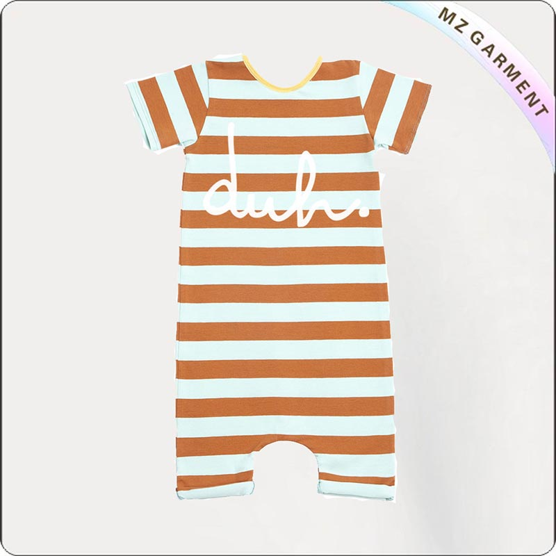 Yellow Stripe Short Romper