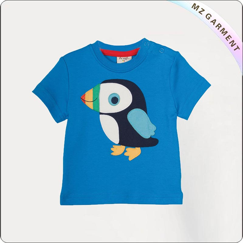 Diver Blue Puffin Printed Tee