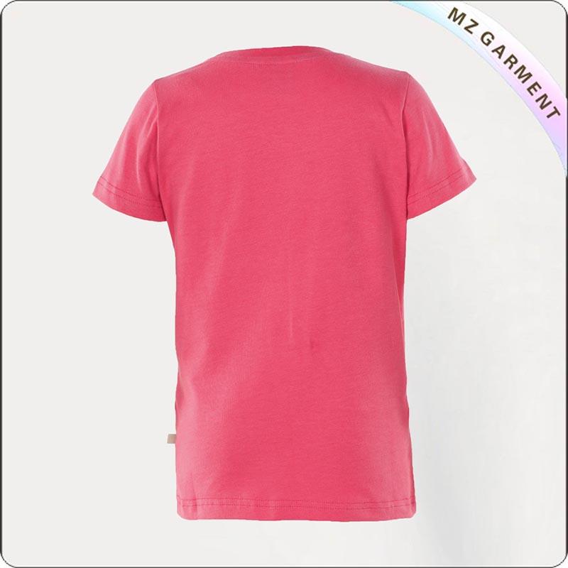 Girls Pink Car Printed Tee