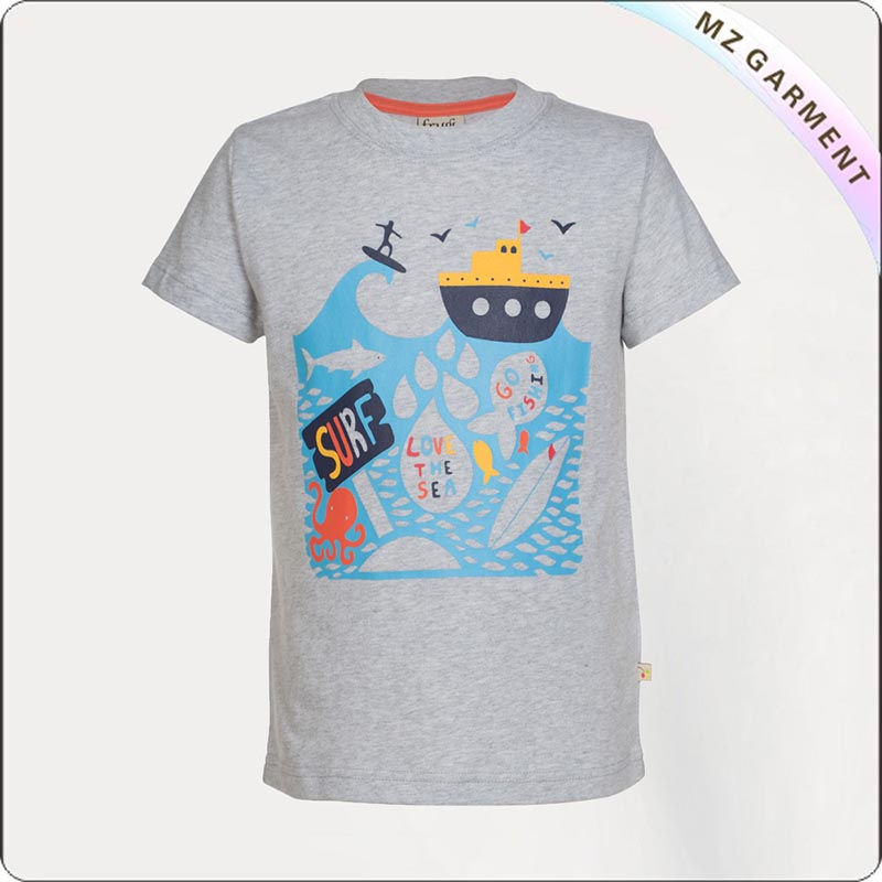 Grey Marl Sea Tee