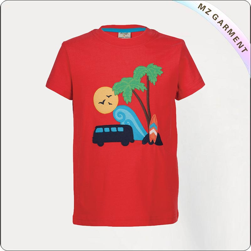 Red Beach Stanley Appliqué Tee