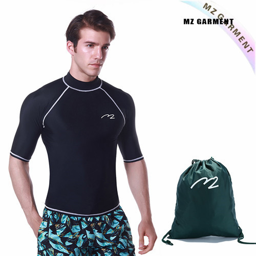 Boys Turtleneck Rash Guard Swimsuit, EU Size, 82% Nylon & 18% Spandex