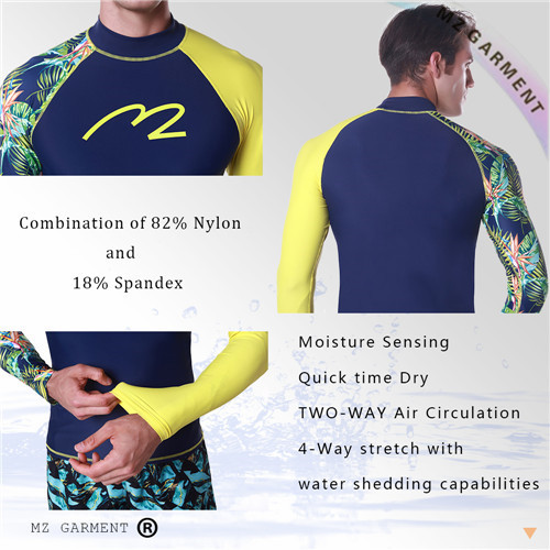 EU Size Mens Water Rash Guards