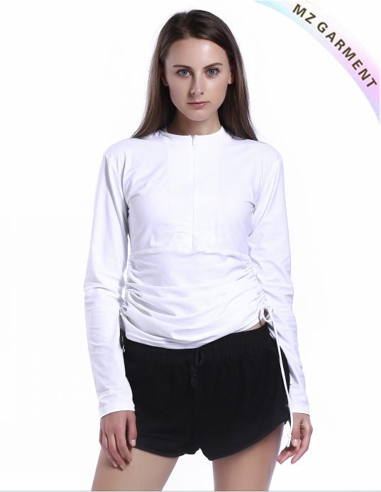 Ladies Rashie with Custom Design, 20% Spandex, 80% Nylon