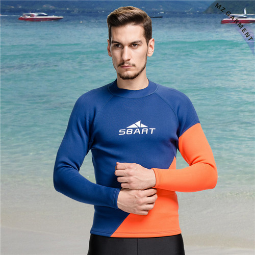 Long Sleeve Rashie Men, UPF 50+, 80% Nylon, 20% Spandex