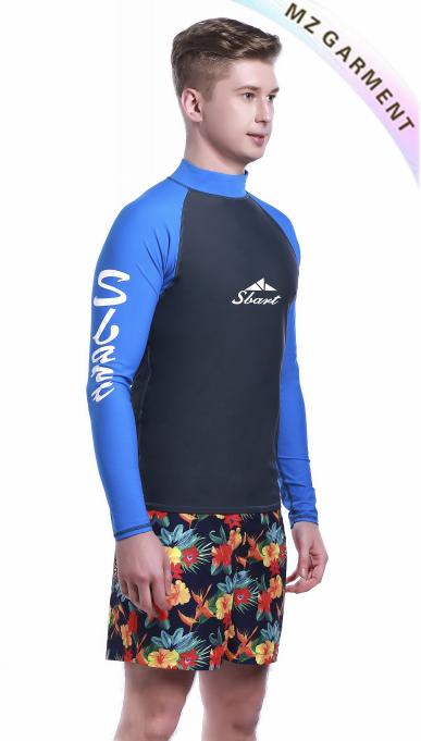 Mens Long Sleeve Rash Vest, UPF 50+, Custom Design